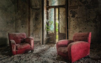 This picture shows old furniture