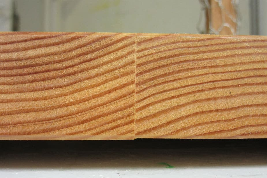 This shows two pieces of wood glued together. It is from the How Long To Let Wood Glue Before Dry Before Sanding blog article. Large image.
