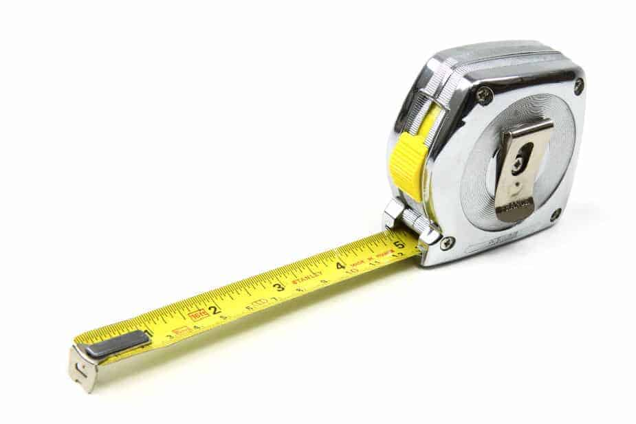 This shows a measuring tape used in woodworking.