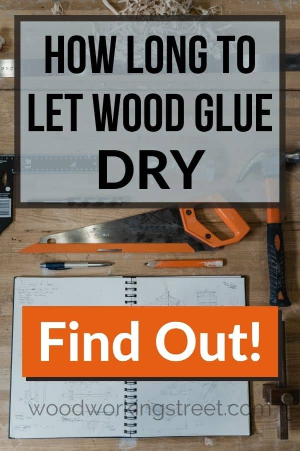 woodworking tools and notebook