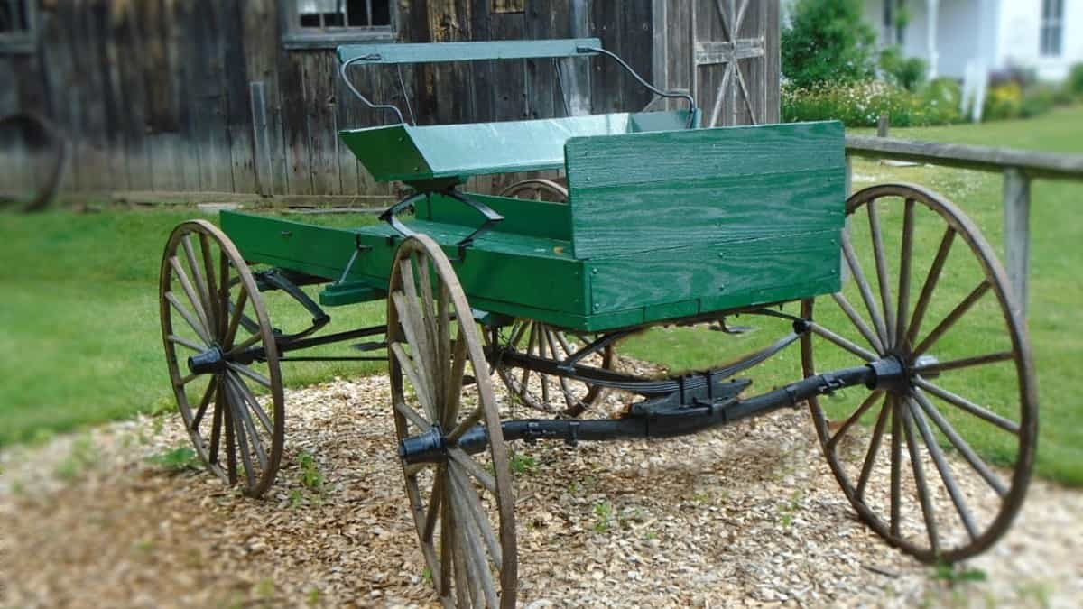 green wagon with carriage bolts